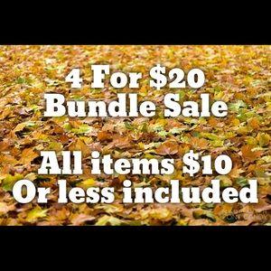 4 For $20 Bundle Sale!!!
